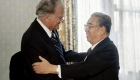 Billy Graham y Kim Il Sung, fundador y líder supremo de Corea del Norte